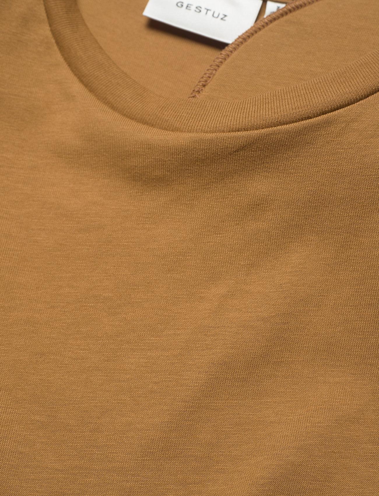 Gestuz - JoryGZ tee - t-shirts - bone brown - 4