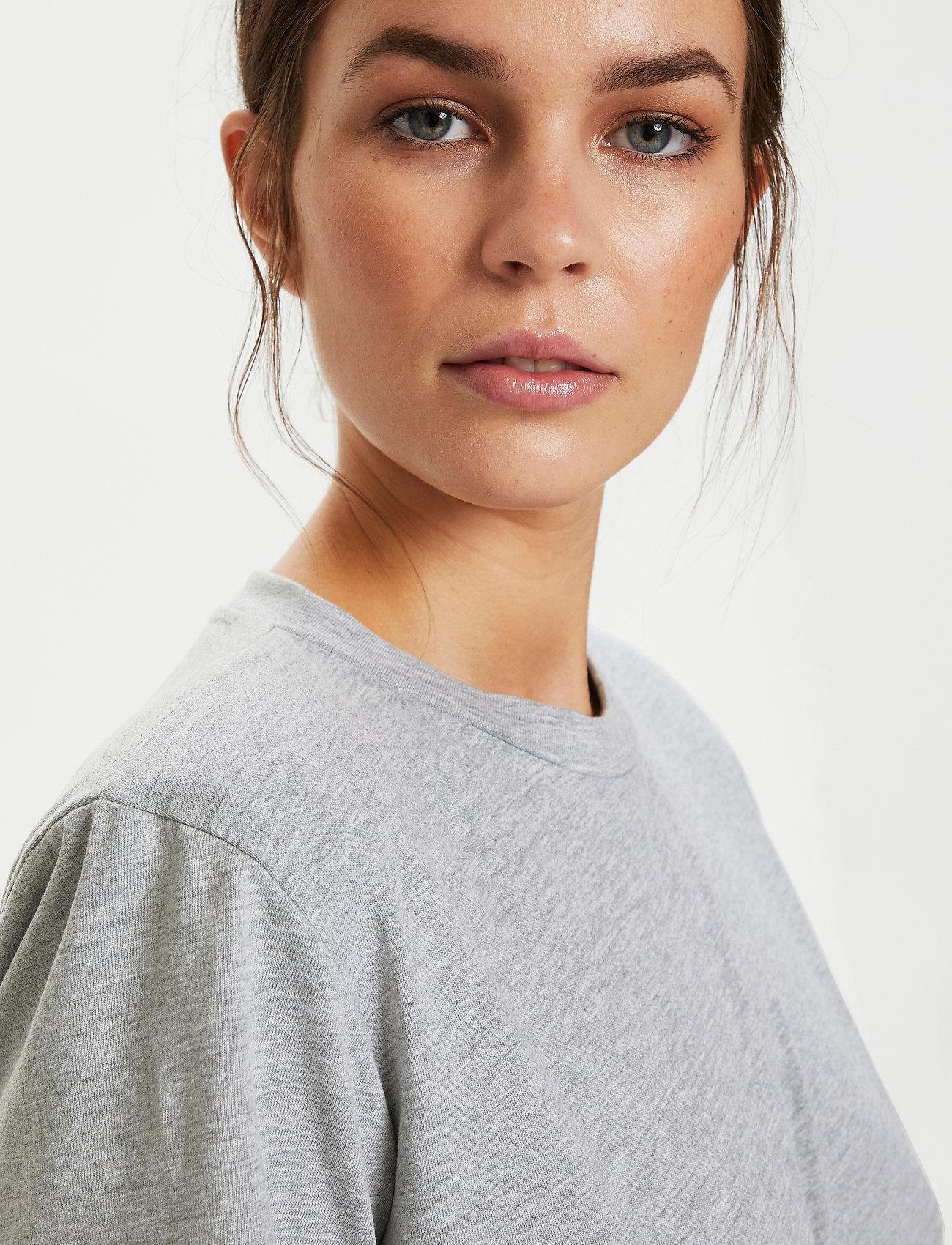 Gestuz - JoryGZ tee - t-shirts - grey melange - 0