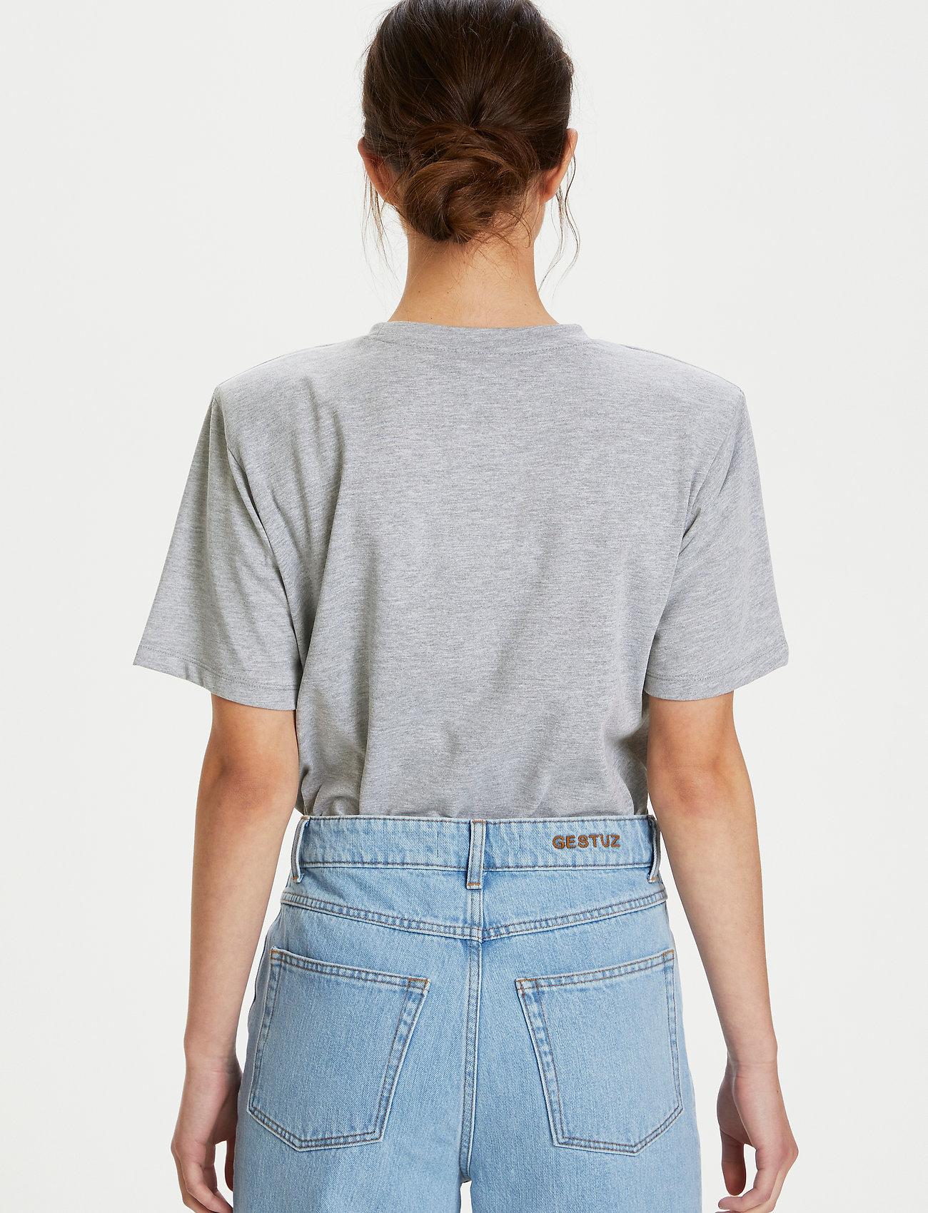 Gestuz - JoryGZ tee - t-shirts - grey melange - 3