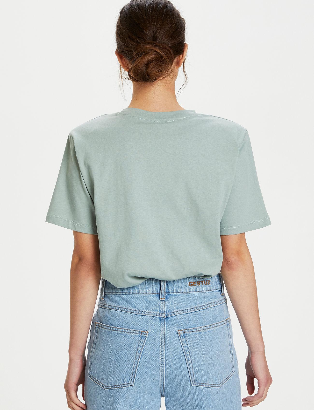 Gestuz - JoryGZ tee - t-shirts - slate gray - 3