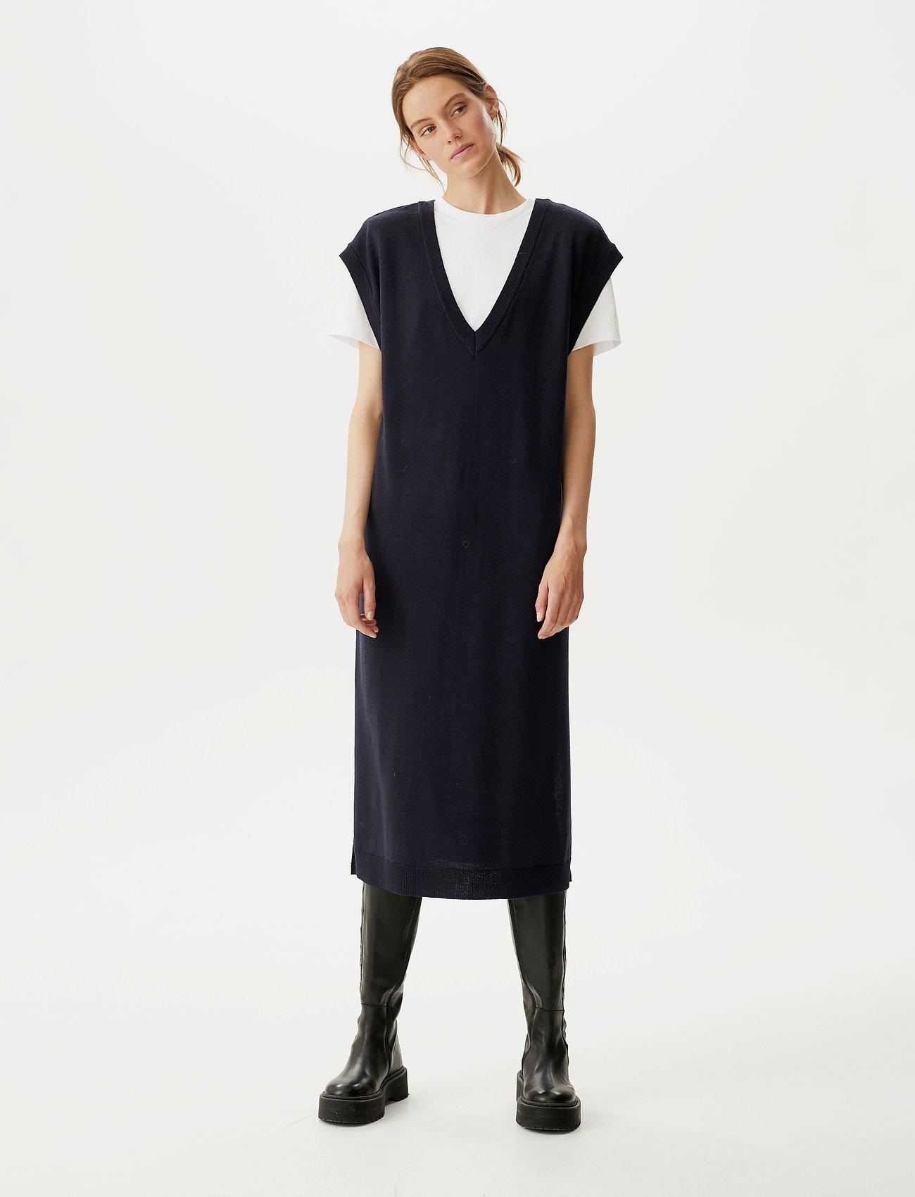 Gestuz - ThelmaGZ long waistcoat SO21 - strikkjoler - navy melange - 0