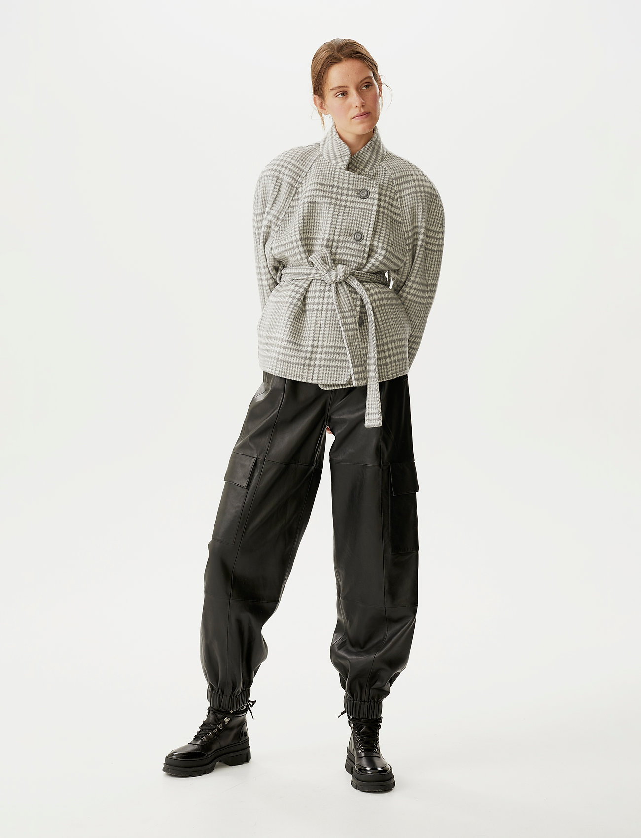 Gestuz - RoselGZ jacket SO21 - wool jackets - grey/white check - 0