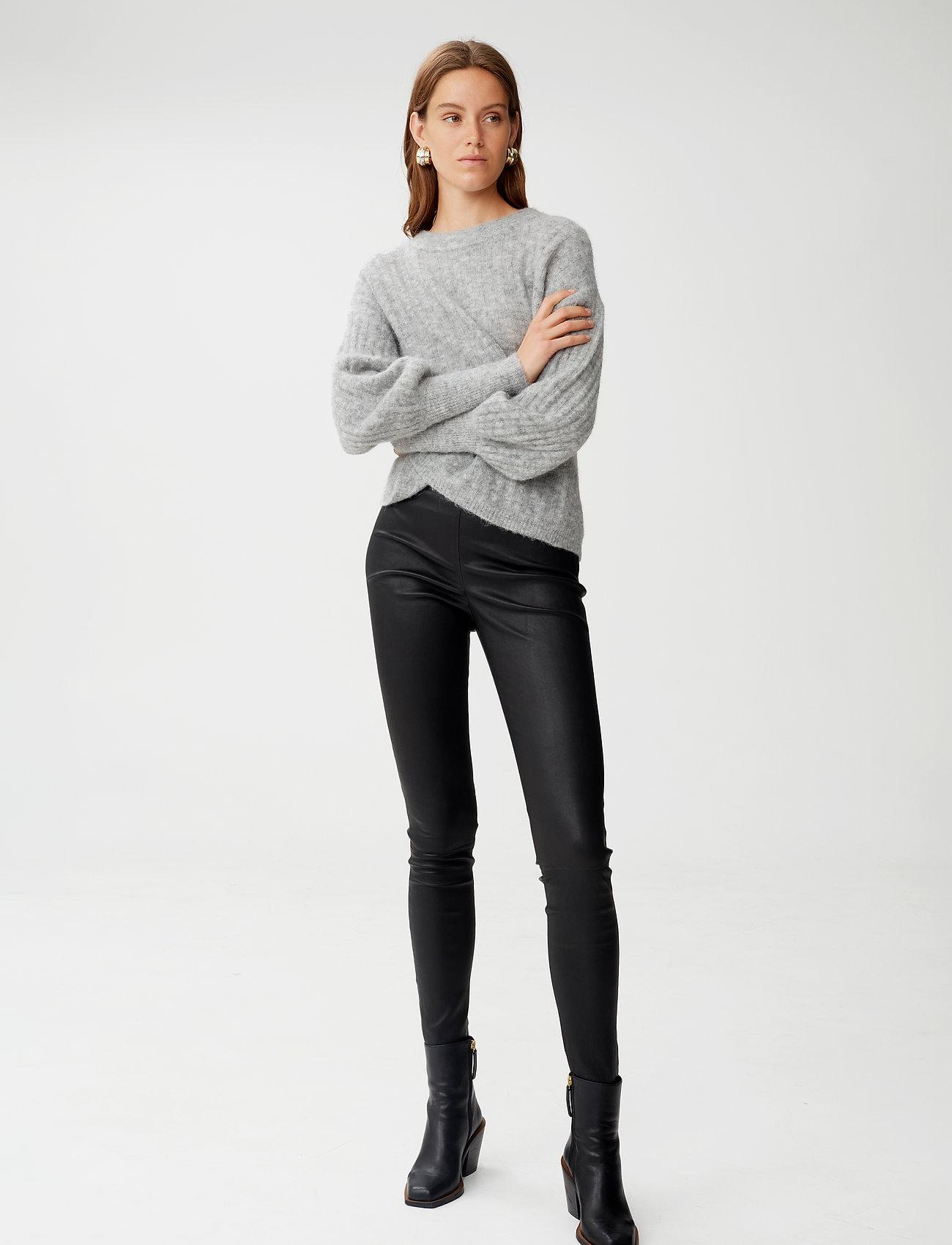 Gestuz - SashaGZ HW leather legging NOOS - læderbukser - black - 0
