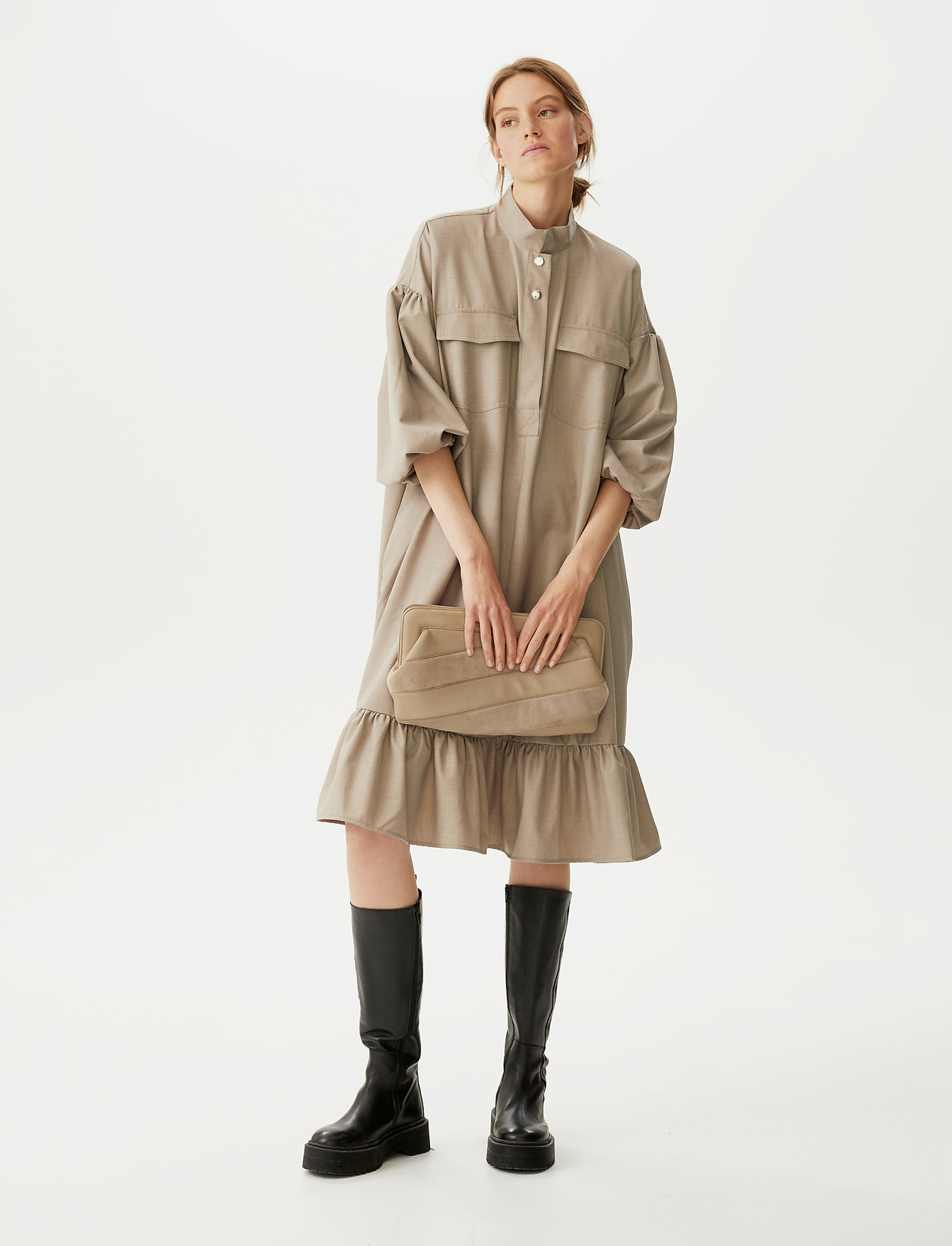 Gestuz - ViraGZ OZ dress SO21 - skjortekjoler - walnut - 0