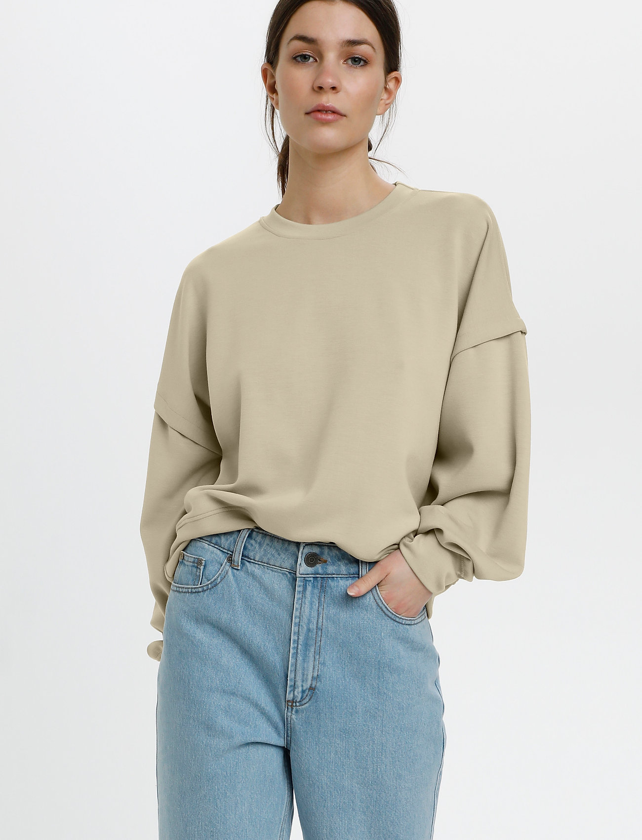 Gestuz - ChrisdaGZ sweatshirt - sweatshirts - pure cashmere - 0