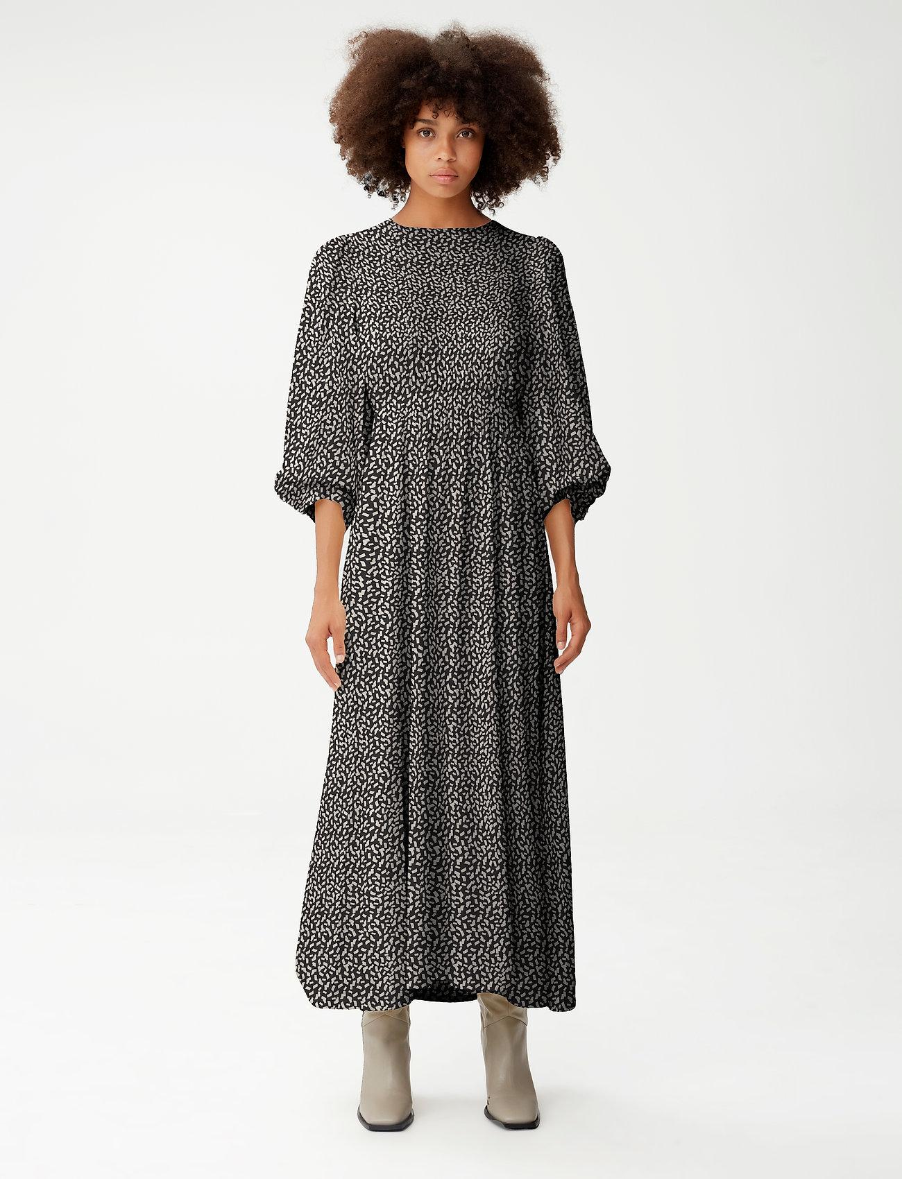 Gestuz - IlaGZ midi dress - aftenkjoler - moonbeam square dot - 0