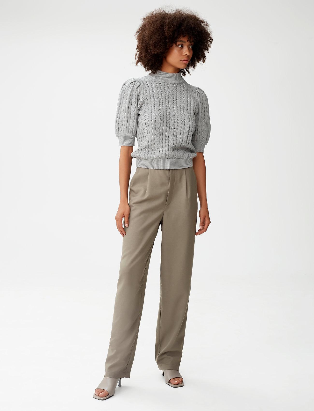 Gestuz - LeejaGZ HW pants MS21 - bukser med lige ben - brindle - 0