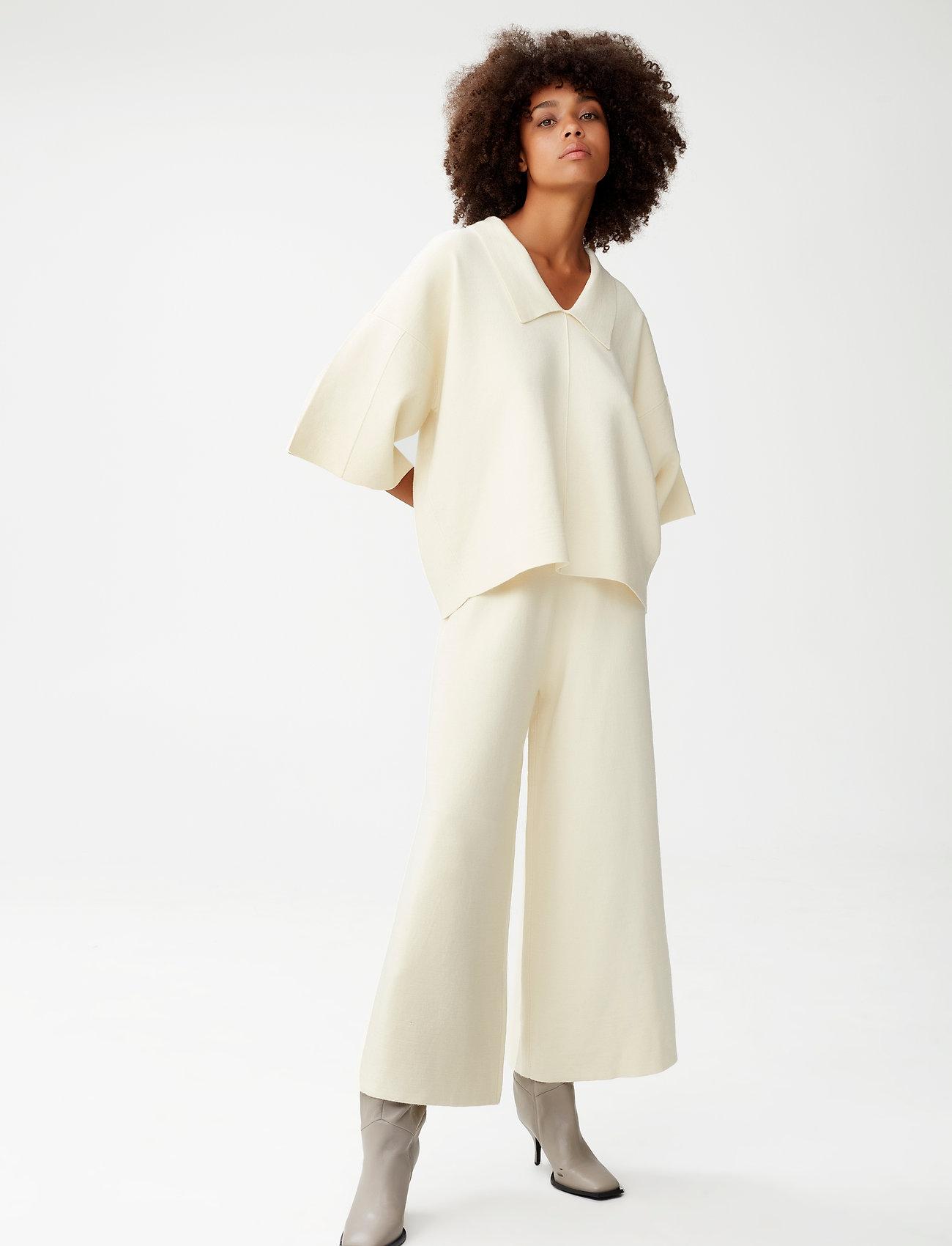 Gestuz - TalliGZ MW culotte - bukser med brede ben - egret - 0