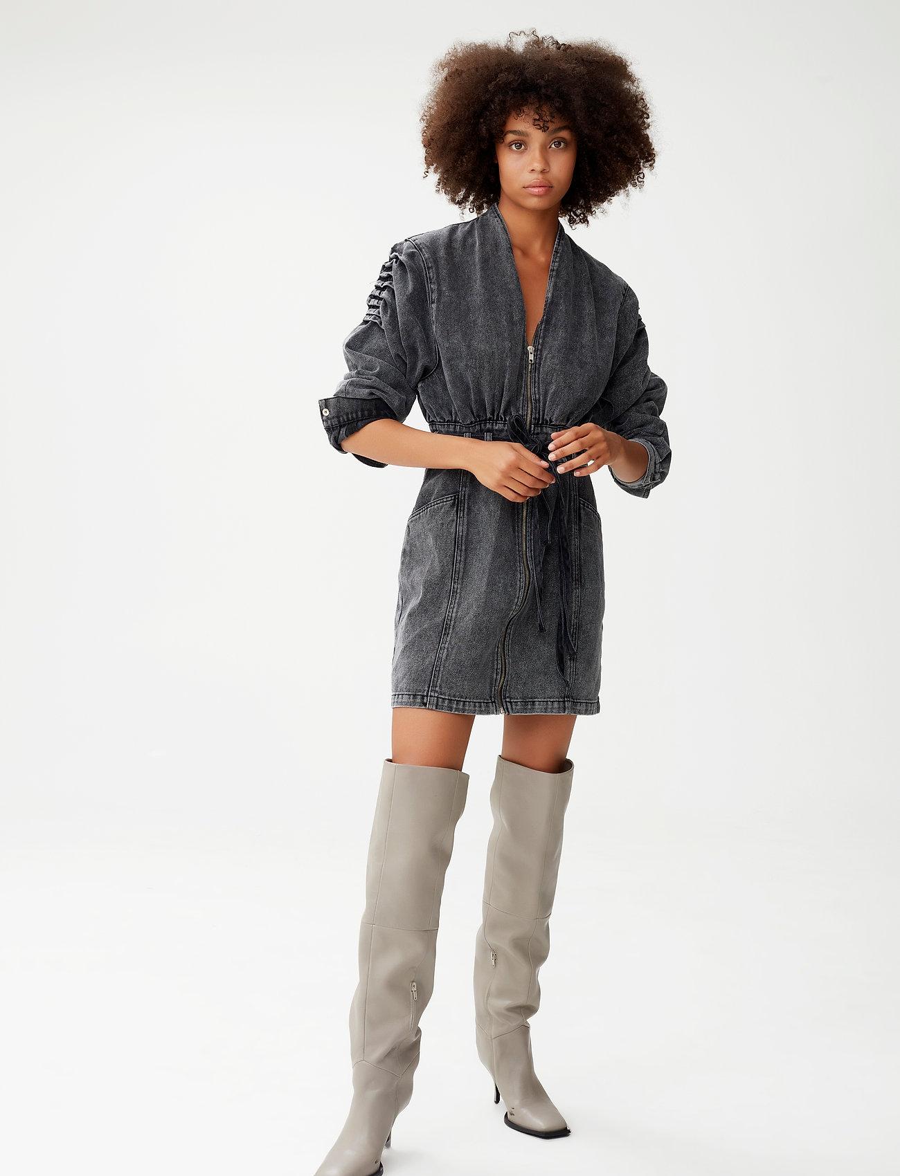 Gestuz - AleahGZ dress - hverdagskjoler - storm grey - 0