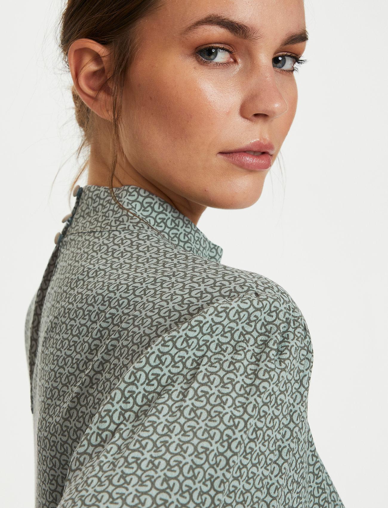 Gestuz - MoaGZ blouse - langærmede bluser - green logo - 0