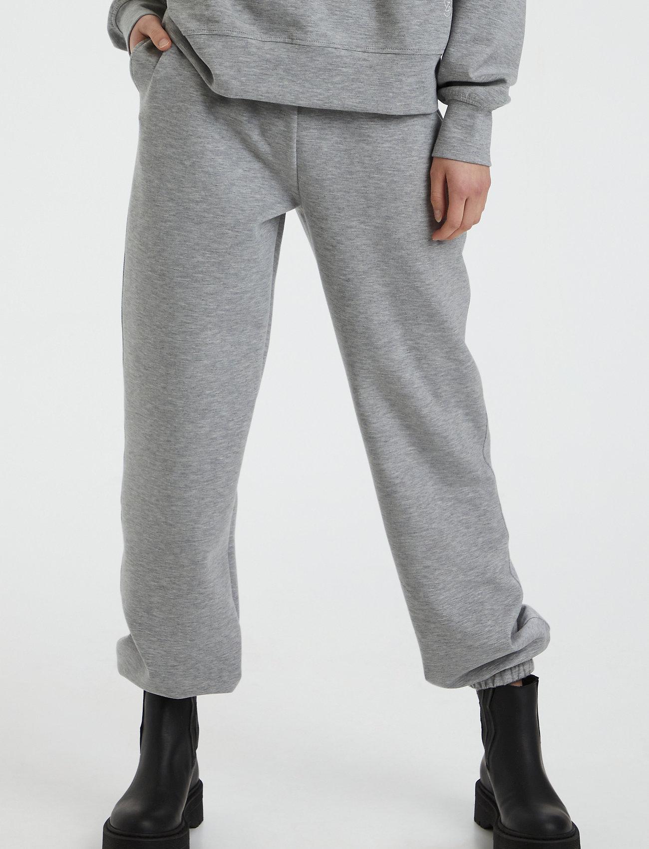 Gestuz - ChrisdaGZ MEL sweatpants - sweatpants - light grey melange - 0