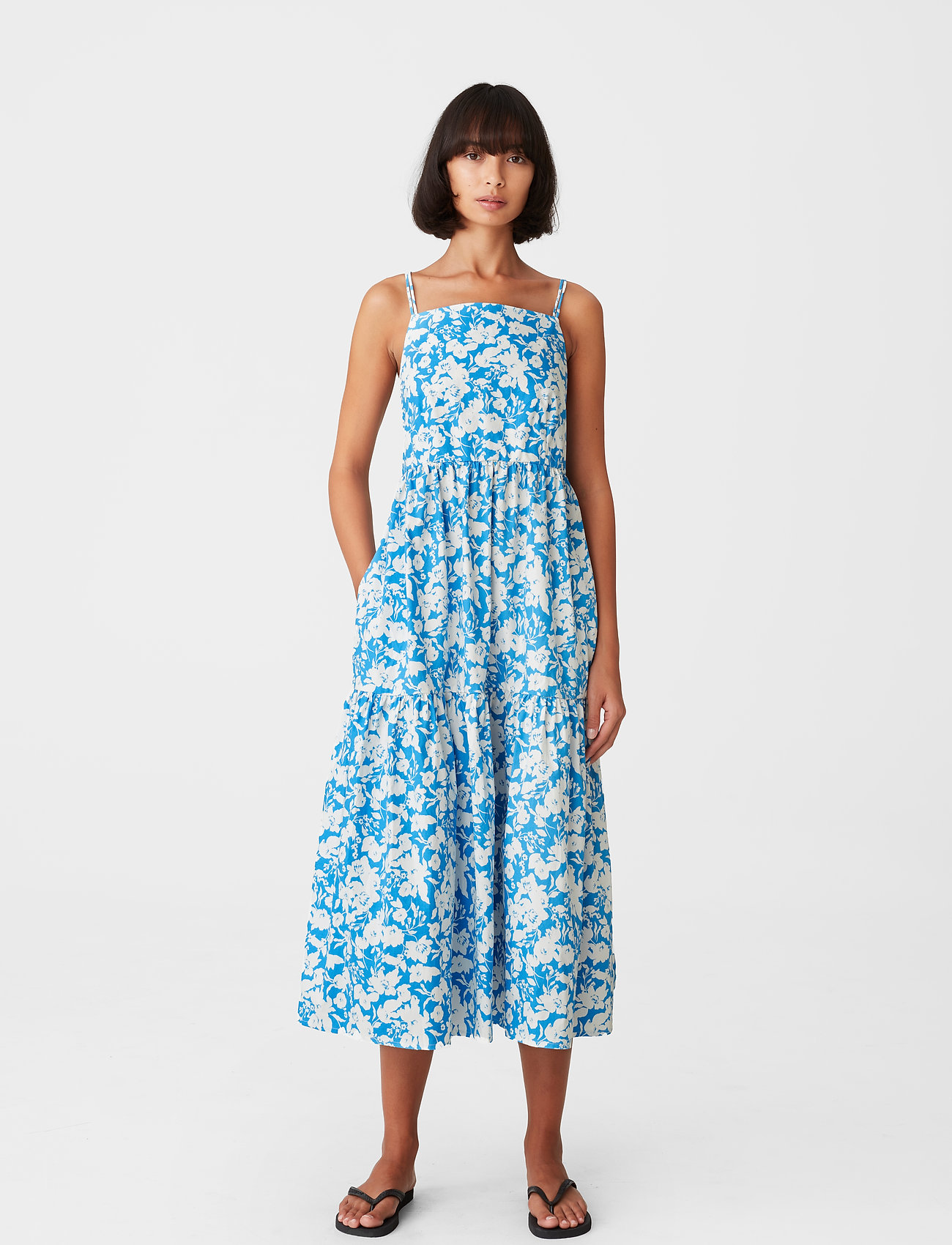 Gestuz - MynteGZ dress - sommerkjoler - blue flower - 0