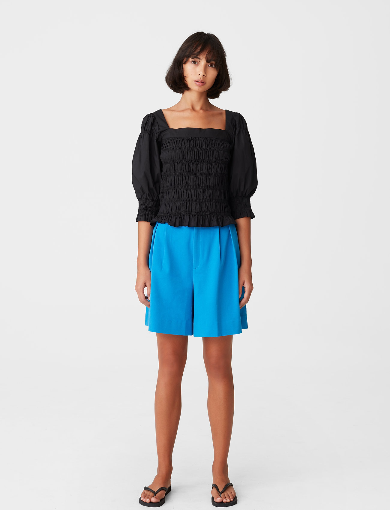 Gestuz - LenaGZ blouse - langærmede bluser - black - 3