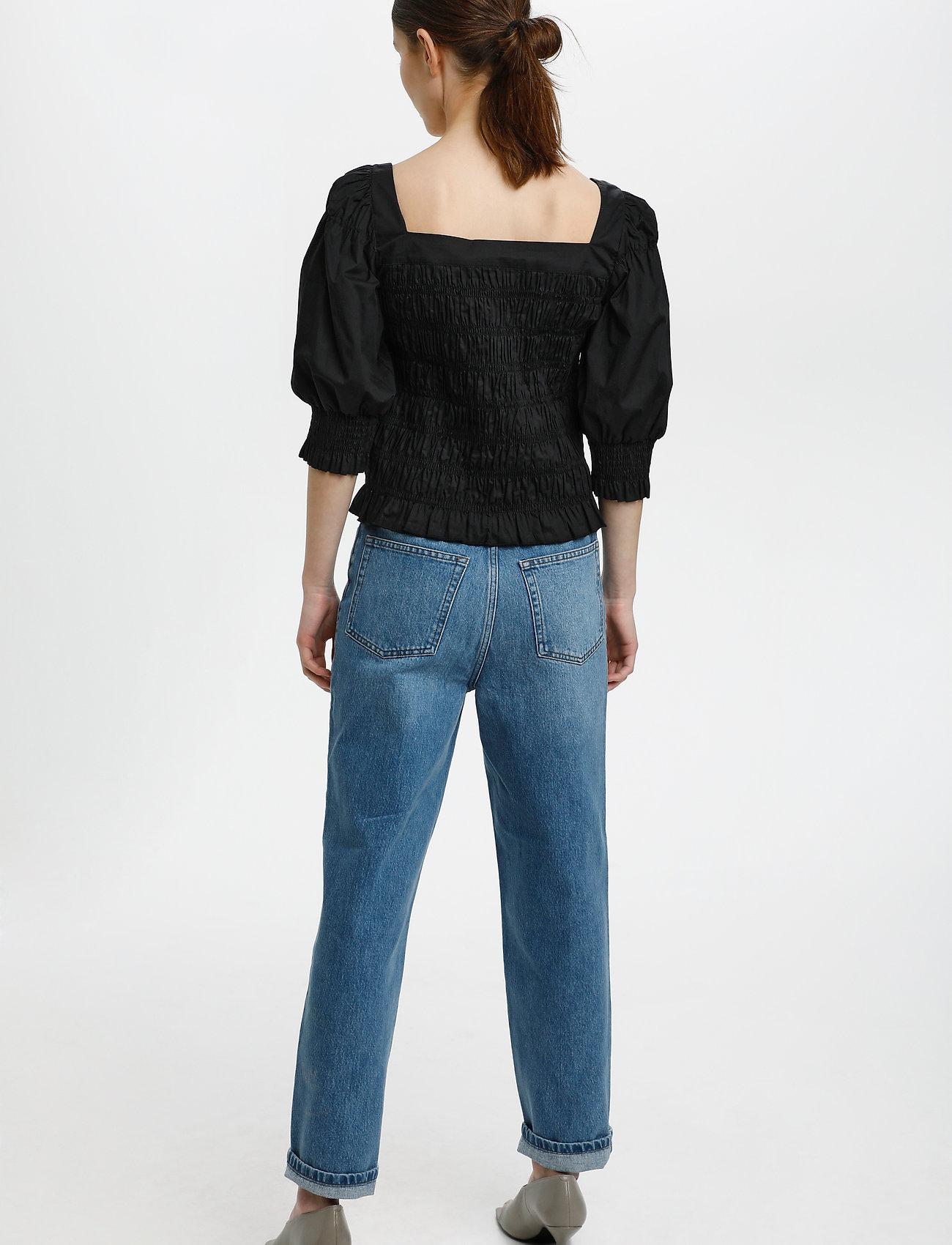 Gestuz - LenaGZ blouse - langærmede bluser - black - 4