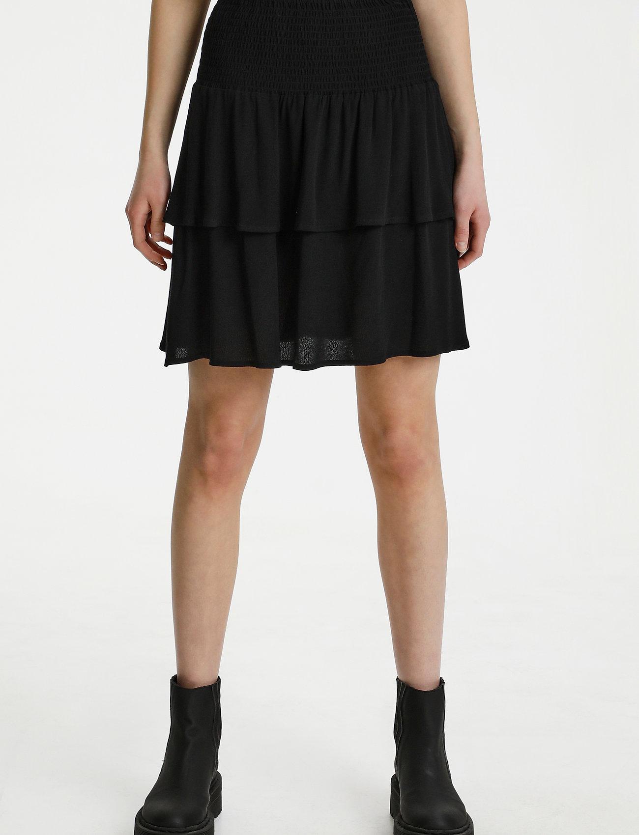 Gestuz - LifGZ skirt - midi nederdele - black - 0