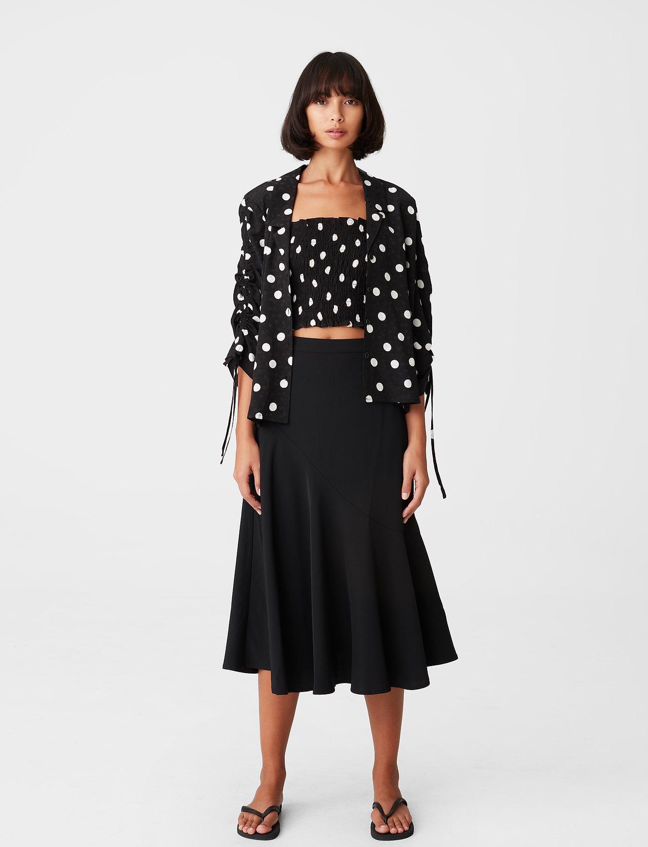Gestuz - FjolaGZ duo shirt - langærmede bluser - black w/grey dot - 0