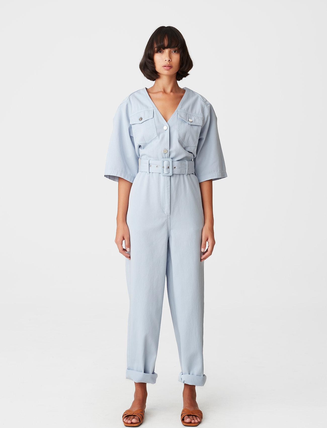 Gestuz - KataGZ jumpsuit HS21 - tøj - xenon blue - 0