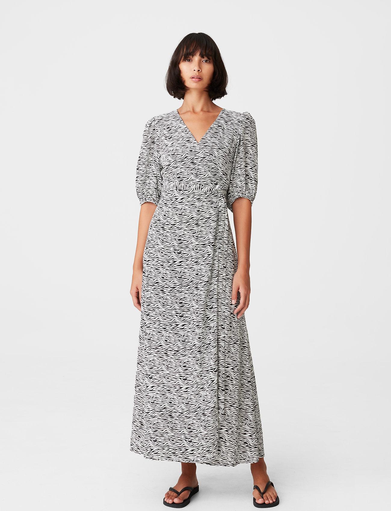 Gestuz - DisGZ wrap dress - sommerkjoler - grey wave - 0