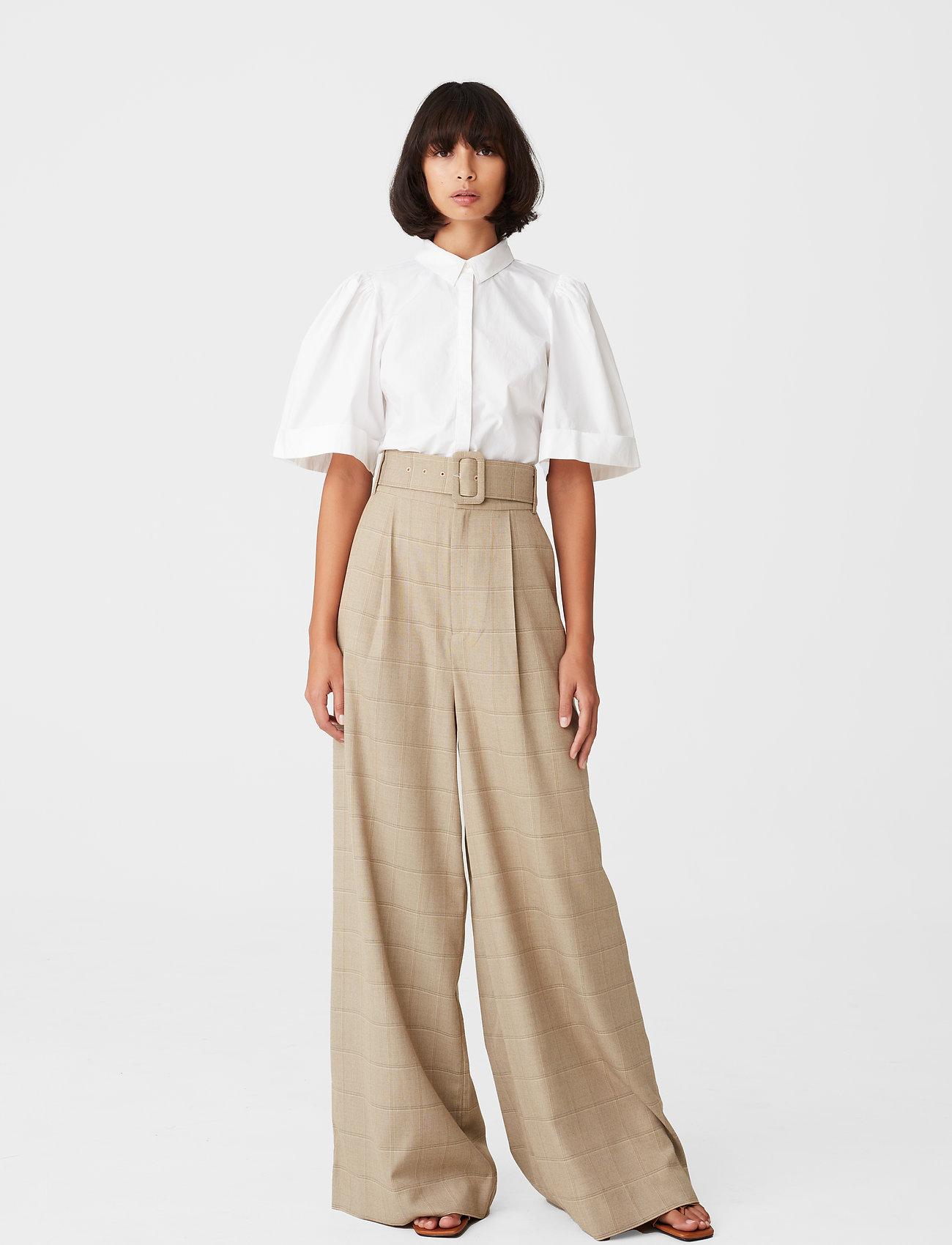 Gestuz - HalioGZ ss shirt - denimskjorter - bright white - 3