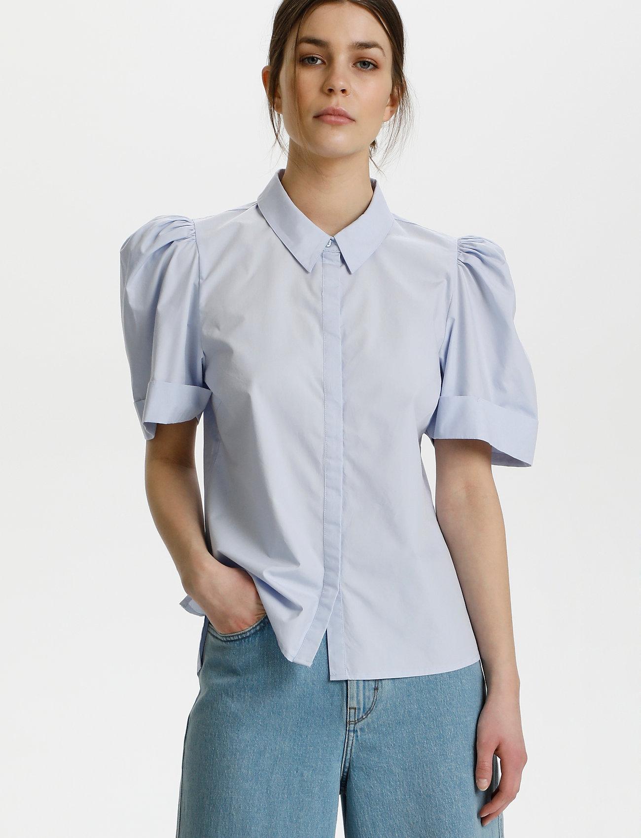 Gestuz - HalioGZ ss shirt - denimskjorter - xenon blue - 0