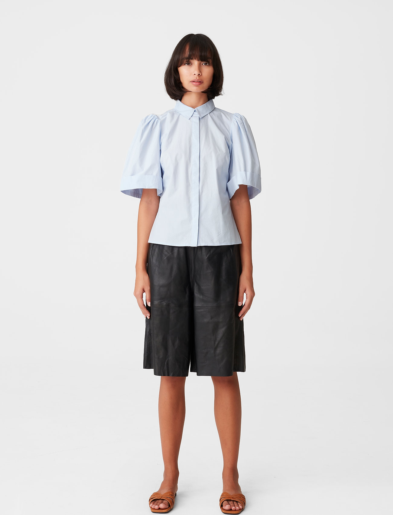 Gestuz - HalioGZ ss shirt - denimskjorter - xenon blue - 3
