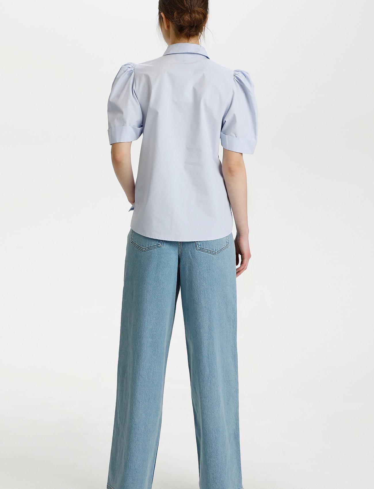 Gestuz - HalioGZ ss shirt - denimskjorter - xenon blue - 4