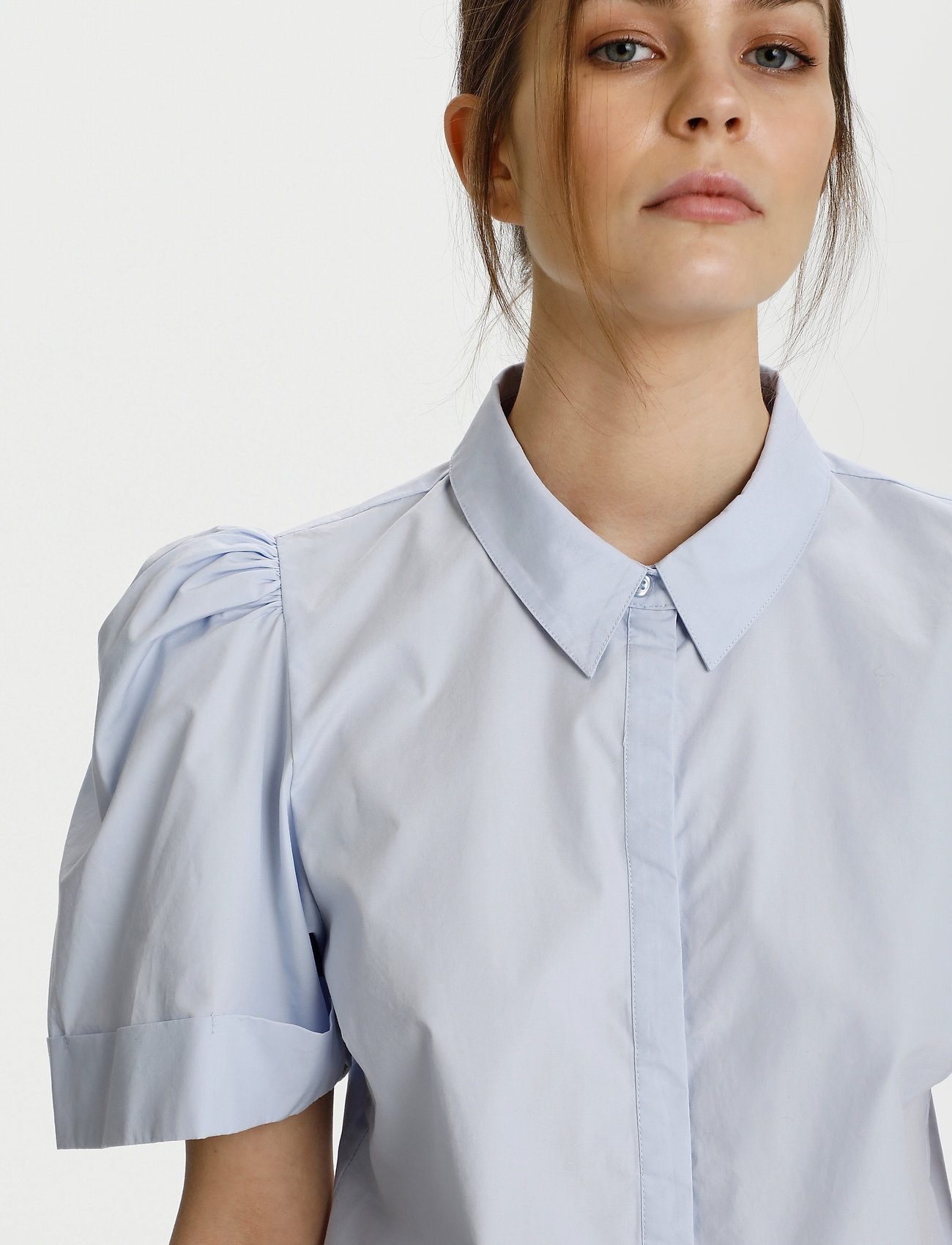 Gestuz - HalioGZ ss shirt - denimskjorter - xenon blue - 5