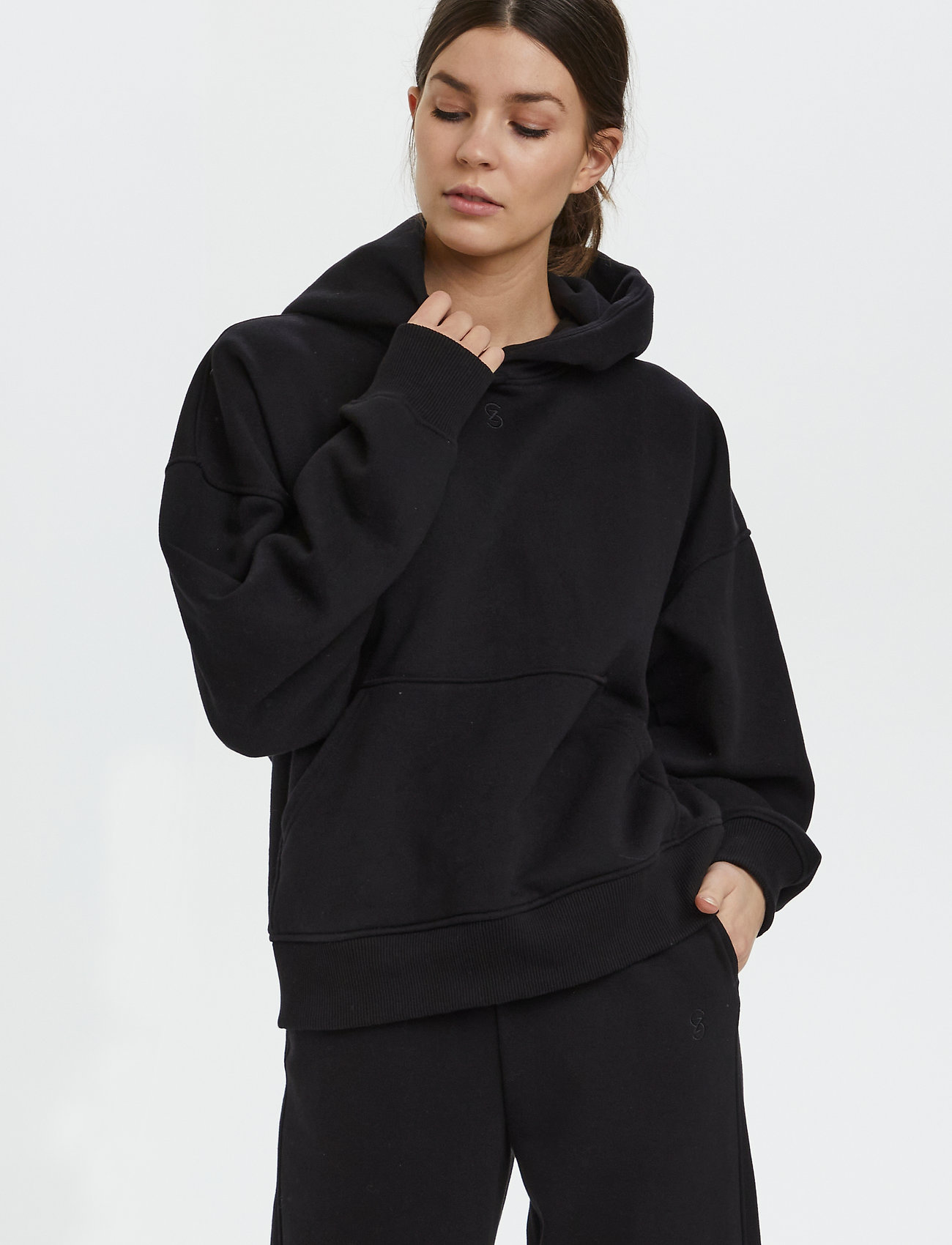 Gestuz - RubiGZ hoodie NOOS - sweatshirts & hættetrøjer - black - 0