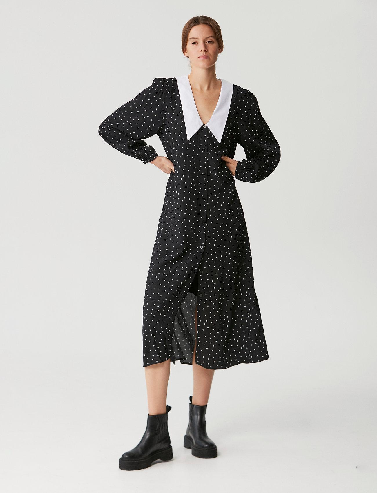 Gestuz - KatlaGZ dress - hverdagskjoler - black w. white dot - 0