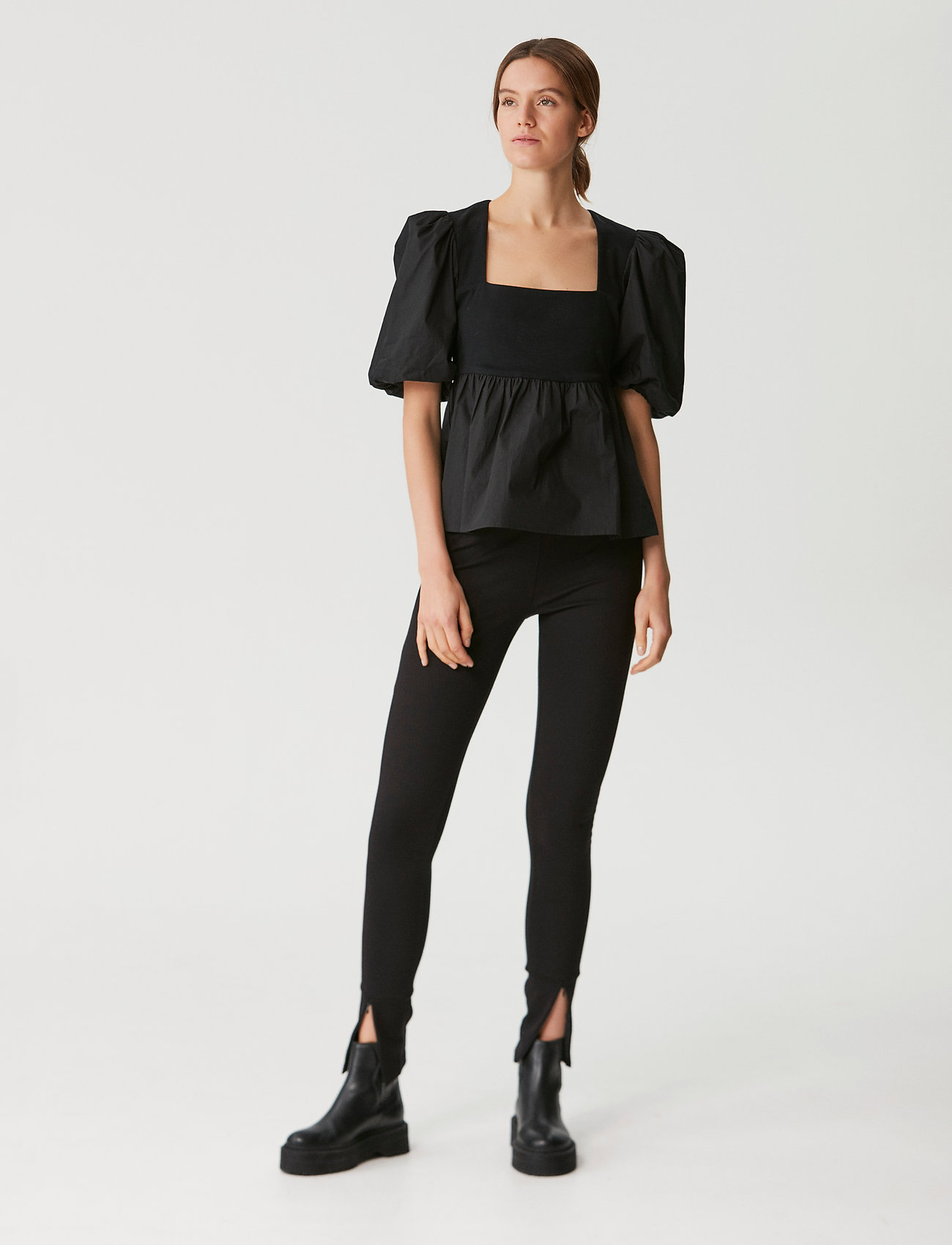 Gestuz - CristinGZ blouse - kortærmede bluser - black - 0