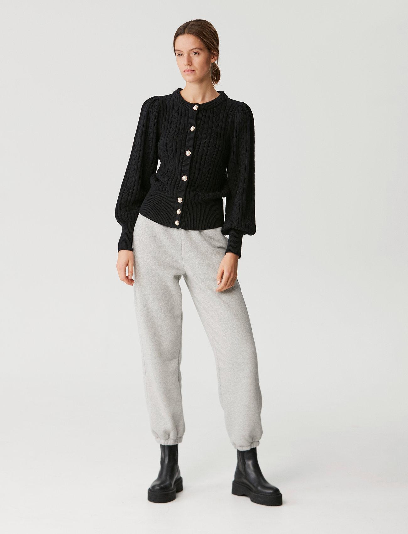 Gestuz - RawanGZ collar cardigan - black - 0