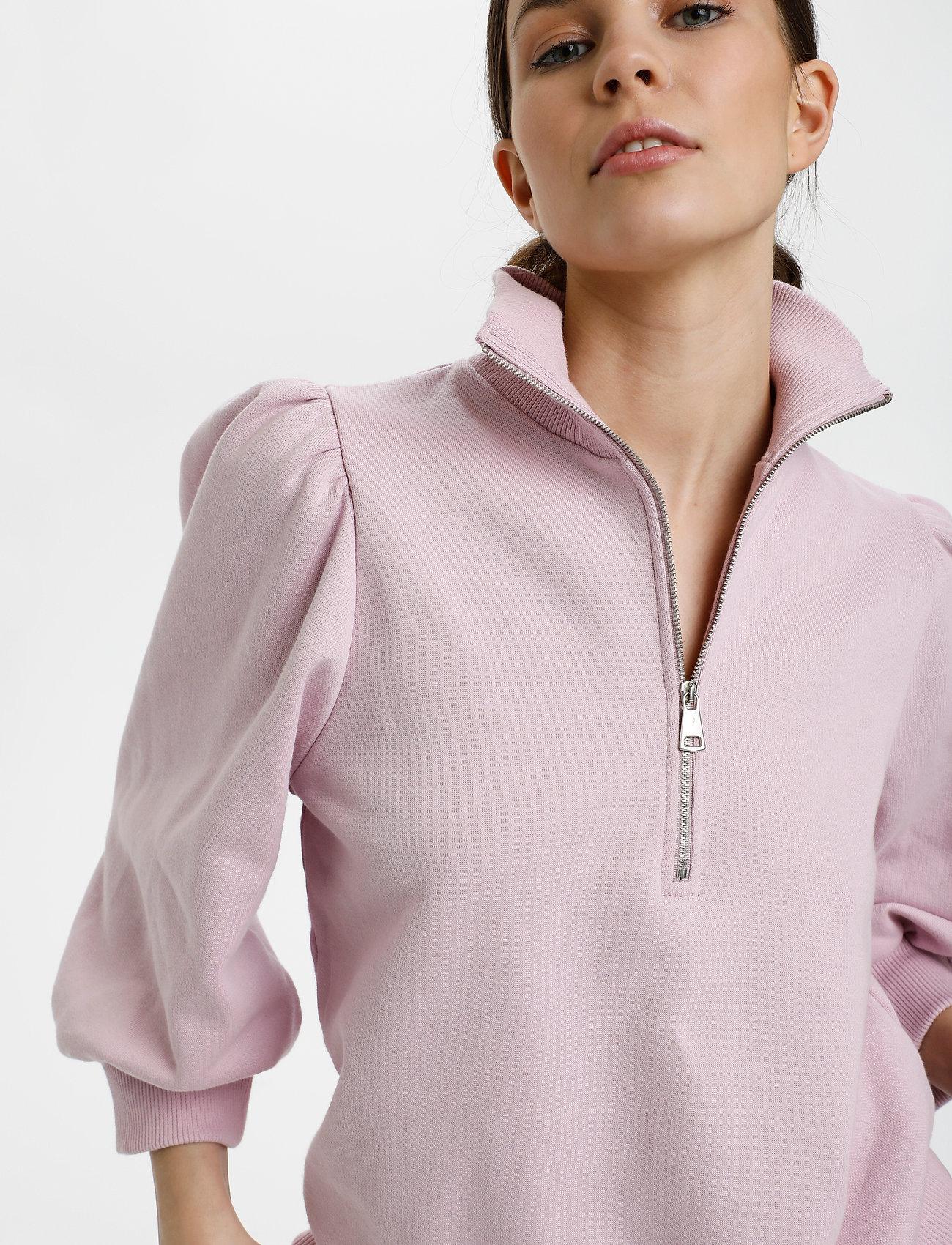 Gestuz - NankitaGZ ss zipper sweatshirt - sweatshirts & hoodies - fragrant lilac - 5