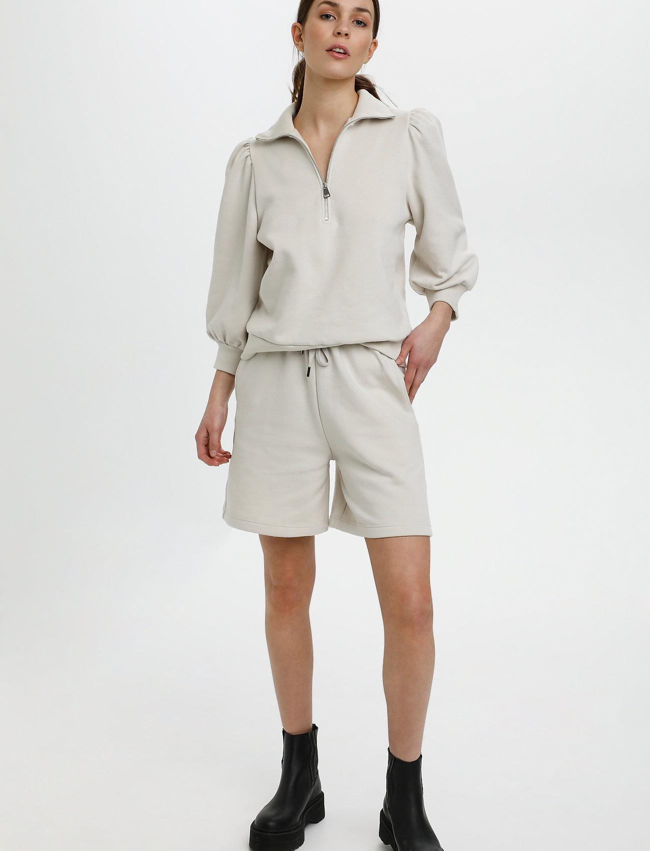 Gestuz - NankitaGZ ss zipper sweatshirt - sweatshirts & hoodies - moonbeam - 3