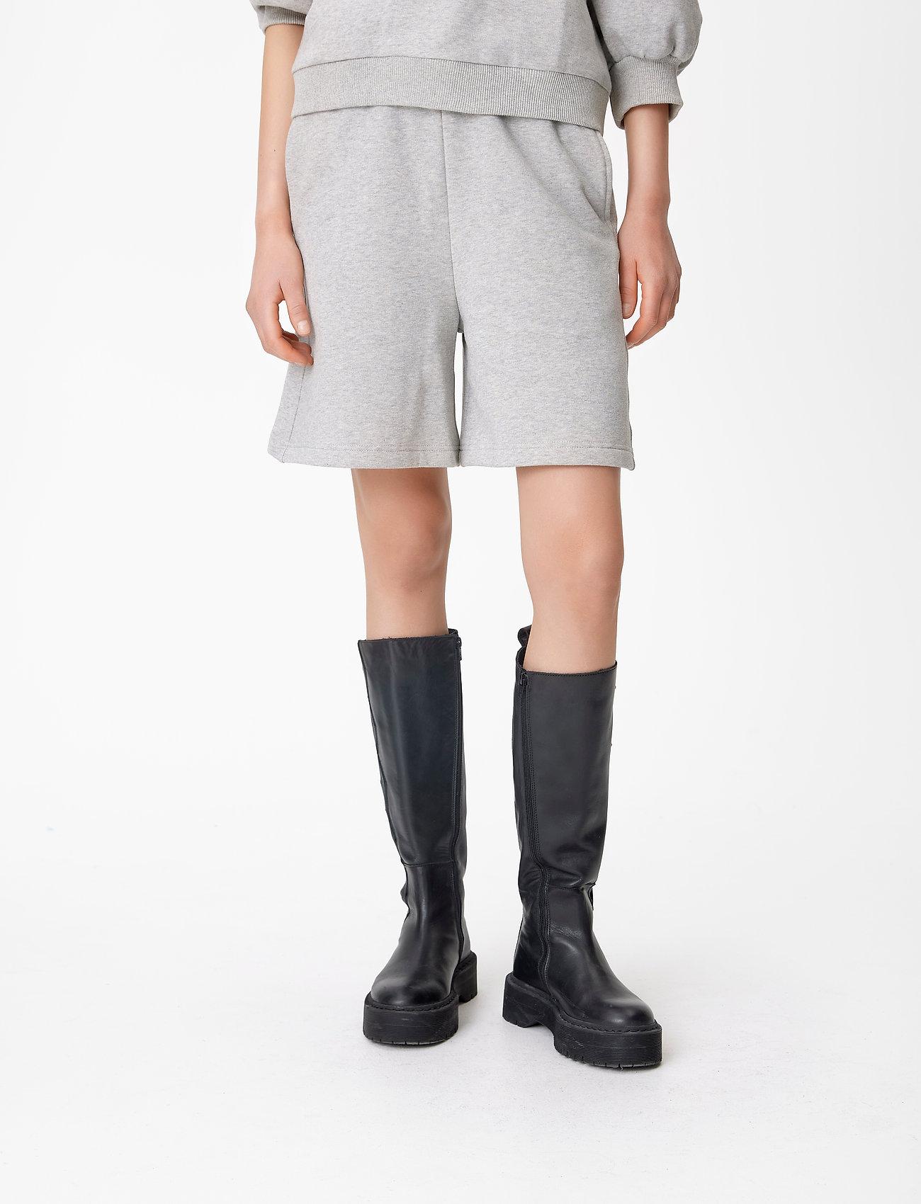 Gestuz - NankitaGZ HW shorts - shorts casual - light grey melange - 0