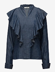 Gestuz - Cyndie blouse SO18 - langærmede bluser - denim blue - 1