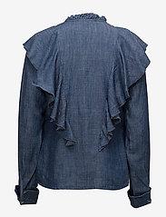 Gestuz - Cyndie blouse SO18 - langærmede bluser - denim blue - 2