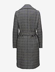 Gestuz - Vinne coat MS18 - trenchcoats - black/white check - 1