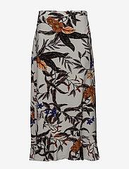 Gestuz - Greye long skirt HS18 - midi - grey flower print - 0