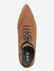 Gestuz - Linea boots MA18 - ankelstøvler med hæl - camel - 3