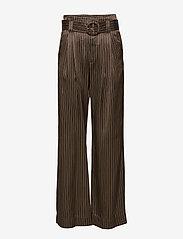 Gestuz - Strika pants MA18 - hosen mit weitem bein - brown stribe - 0