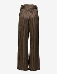 Gestuz - Strika pants MA18 - wide leg trousers - brown stribe - 1
