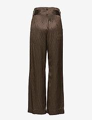 Gestuz - Strika pants MA18 - hosen mit weitem bein - brown stribe - 1