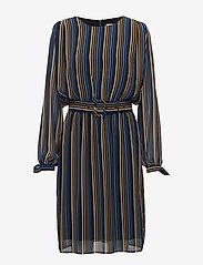 Gestuz - Riba dress MA18 - midi dresses - blue stribe - 0