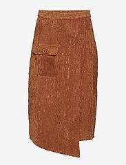 Gestuz - Roy skirt MA18 - midi skirts - caramel café - 0