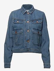 Gestuz - Jenelle jacket MA18 - denim jackets - medium blue - 0