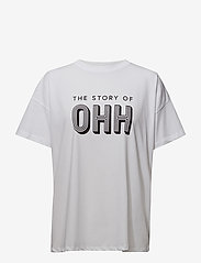 Gestuz - Ohh tee MA18 - printed t-shirts - bright white - 0