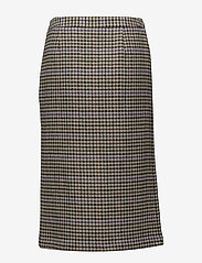 Gestuz - Welle check skirt - midi skirts - off white/cognac - 1