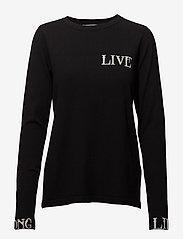 Gestuz - Linka ls pullover MA18 - jumpers - black - 0