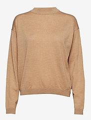 Gestuz - MerinaGZ pullover NOOS - trøjer - tan melange - 0