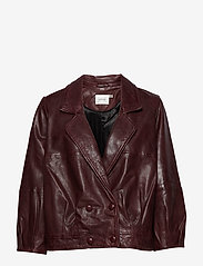 Gestuz - BetzyGZ jacket AO19 - leather jackets - port royale - 0
